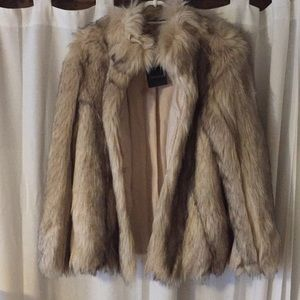Topshop faux fur coat new with tag